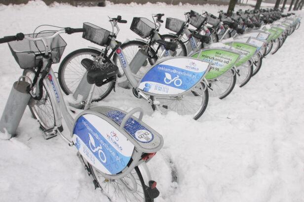 Rowery czekają na start Tomasz Zieliński / Tvnwarszawa.pl