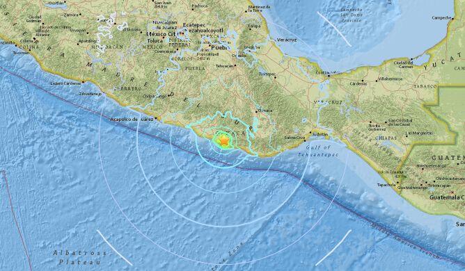 Trzęsienie wtórne o magnitudzie 5.8