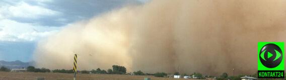 Ściana piachu przeszła przez Arizonę