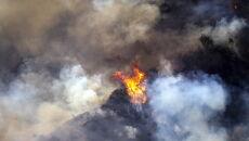 Pożar w Los Angeles (PAP/EPA/ETIENNE LAURENT)