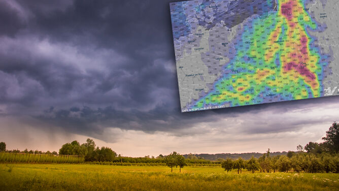 Chmury idą nad Polskę. Deszcz i burze, <br />a w weekend ochłodzenie